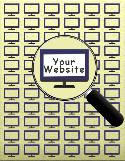 Magnifying Glass Over Website Screen